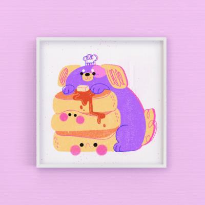 Doggo pancakes