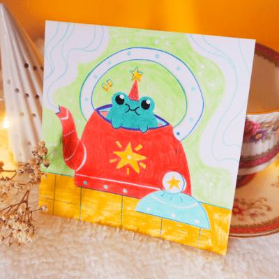 The teacup froggo