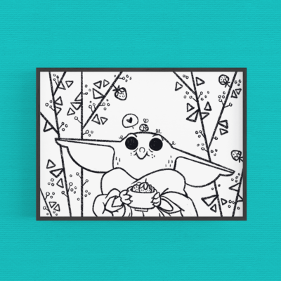 Coloring page - Baby yoda
