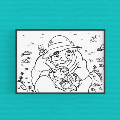 Coloring page - Howl's moving castle