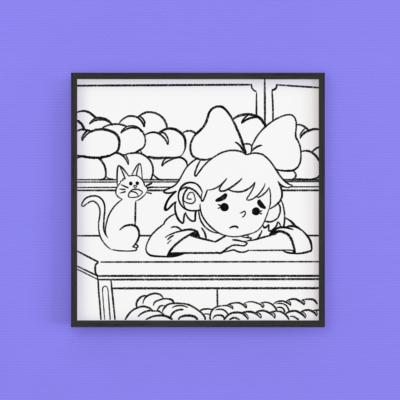 Coloring page ~ Kiki & Jiji